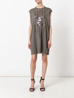 Lilies- Rick Owens 'Sequin Pattern' Sleeveless Tunic dark dust £458.00