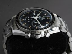 Omega Speedmaster Professional Moonwatch TritiumReference: ST 145.0022 // 35705000Mechanism: Manual windingCase: SteelBracelet: SteelVery good conditionWith box and documentsDiameter: 42 mmGlass: PlexiglassWith tritium dial and handsSerial number: 4835xxxx12 months warrantyChronograph, TachymeterSmall Seconds, Luminescent Hands, Luminous indexes