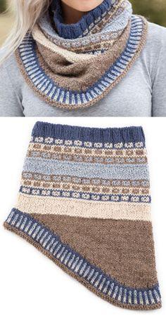 Fair Isle Gansey Cowl - Knitting Pattern Crochet Cluster Stitch, Crochet Waffle Stitch, Crochet Wool, Owl Knitting Pattern, Fair Isle Knitting Patterns, Knitting Ideas, Knitting Projects, Crochet Baby Cardigan, Knit Baby Booties