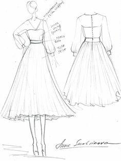 Wedding dress – 2019 // 19319 - Sites new Dress Design Drawing, Dress Design Sketches, Fashion Design Sketchbook, Fashion Design Drawings, Dress Drawing, Fashion Sketches, Wedding Dress Sketches, Dress Wedding, Fashion Drawing Dresses