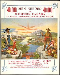 workers needed, and advertising went out to the USA
