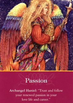 "Archangel Haniel means ""Grace of God"" Doreen Virtue, Oracle card. Doreen Virtue, Archangel Haniel, Archangel Raphael, Art Magique, Angel Readings, I Believe In Angels, Angel Numbers, Angel Cards, Guardian Angels"