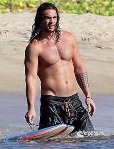 Jason Momoa Aquaman, Aquaman Actor, Jason Momoa Shirtless, Shirtless Men, Gorgeous Men, Beautiful People, My Sun And Stars, Hot Hunks, Roman Reigns