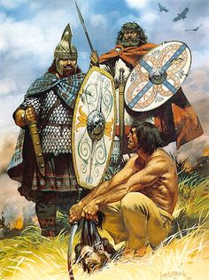 """Dacian Celtic warriors, 2nd century AD"", Angus McBride"
