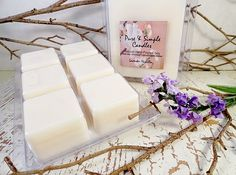 Extra Large Melts Lavender Vanilla Soy by PureAndSimpleCandles