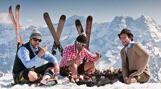 Ski Heil! Die Chamois-Ski von Jodler in Altholz-Optik.