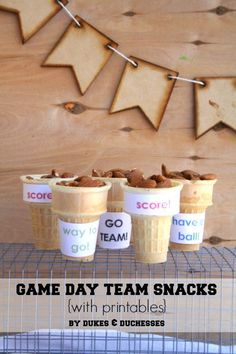 game day team snacks