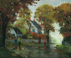 """After the Rain, Rockport,'' Anthony Thieme, oil on canvas, 25 x 30"", private collection."