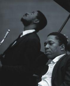 artemisvoice:  John Coltrane with Pharoah Sanders, NJ, 1966 Chuck Stewart