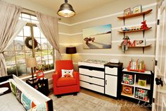 This girl did an amazing job of her kids rooms!  I am so working on Anakin's room with these ideas!