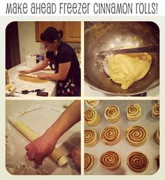 Make ahead freezer cinnamon rolls, perfect for Christmas morning!