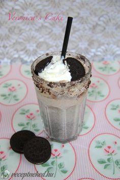 Oreo shake Oreo Shake, Smoothies, Pudding, Desserts, Food, Smoothie, Tailgate Desserts, Oreo Milkshake, Deserts