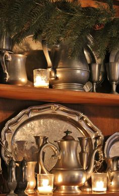 Christmas 2013- My pewter & silver lit up