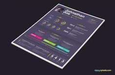 Creative PSD Resume Templates for Professionals | 3 Color variants