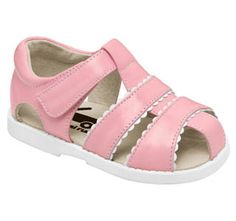 See Kai Run Gloria Pink Sandal from seekairun.com - cool baby shoes, toddler shoes, kids shoes and baby booties.