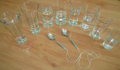 grające szklanki, eksperyment dla dzieci, zmysł słuchu, edukacja muzyczna, zabawa, kreatywnie.