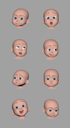 Baby emoji Zbrush Character, 3d Model Character, Boy Character, Character Modeling, Character Drawing, Character Design, Animated Cartoon Characters, Cute Characters, Design Visual