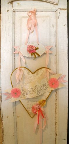 Valentine's Day Sweetheart door banner by Holly Abston