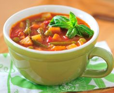 Veggie Tomato: Soup is a great way to use leftover veggies. Any vegetables you have on hand will work in this recipe so feel free to get creative! Use the half-empty bags of