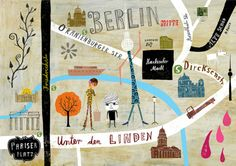 Lovely map of #Berlin from German illustrator, Martin Haake.