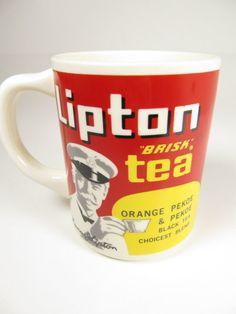 Vintage Thomas Lipton Brisk Tea Mug