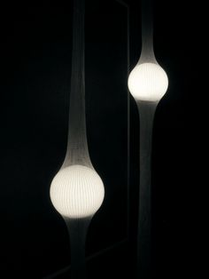 LED lamps in compressed netting by Ryosuke Fukusada