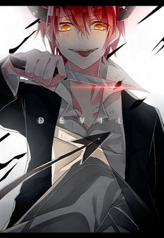 The horns on Karma's head though~ Haha, he's still my favourite - DA \(//∇//)\(≧∇≦)| Karma Akabane | Assassination Classroom