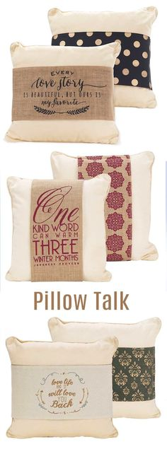 How those pillows talk! Great conversationalist and home decor for any style home. #farmhouse #homedecor #pillow #ad