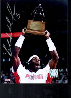 Ben Wallace Autographed 8X10 photo Detroit Pistons Championship Photo by AAAVINTAGEFINDS on Etsy