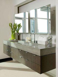 OSSO Concrete | Custom Kitchen U0026 Bath In St. Petersburg, Florida · Floating Bathroom  VanitiesFloating ...