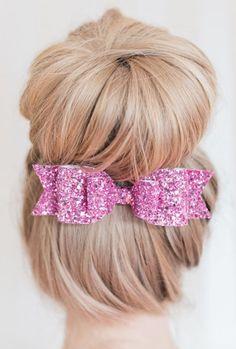 Darling glitter hair bow