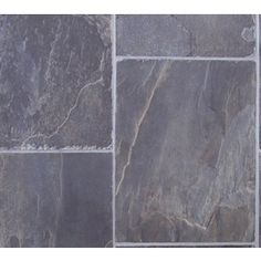 Tarkett 12-ft W Steel Stone Low-Gloss Finish Sheet Vinyl - just put this in our bathroom, still deciding whether to put it in the kitchen until we can afford to renovate and do tile