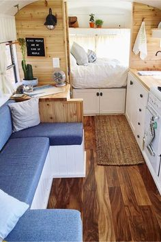 Tiny House Ideas: Inside Tiny Houses – Pictures of Tiny Homes Inside and Out (vi – Van Life Caravan Renovation, Home, Small Spaces, House Inside, Interior, House, Rv Remodel, Living Spaces, Inside Tiny Houses