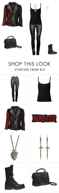 """My Reality Is Your Hell"" by mxbatfiend ❤ liked on Polyvore featuring Thierry Mugler, J.W. Anderson, Balmain, Pamela Love, Janet & Janet, RK New York, Dark, Punk, metal and gothic"