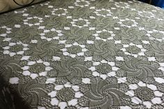 Swirls motif bedspread – stunning free pattern for a crochet bedspread. More Great Patterns Like This