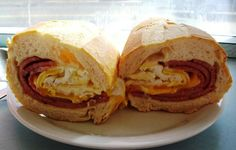 Taylor ham egg and cheese on a roll ..a New Jersey breakfast tradition  You guy MUST try it!!!