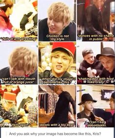 cant imagine if the new exo showtime on july without kris… Hunhan, Exo Ot12, Funny Kpop Memes, Exo Memes, Exo Showtime, Kris Exo, Chanyeol Baekhyun, Xiuchen, I Still Love Him