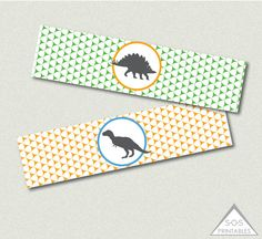 Dinosaur Party Water Bottle Labels, Party Printable, Dino Party, Dinosaur Birthday, INSTANT DOWNLOAD on Etsy, $3.00