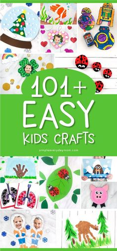 Easy Kids Crafts | Toddlers, preschool and elementary children will love making these easy and fun crafts. They're fun for making at home, in the classroom or at church! #kids #kidscrafts #craftsforkids #kidsactivities #toddlers #preschool #kindergarten #ece #earlychildhood #crafts #kidsandparenting #kidsdiy #springcrafts #summercrafts #wintercrafts #valentinecrafts #christmascrafts #fallcrafts