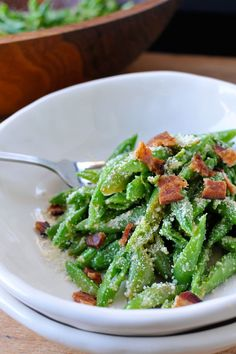 Snap Pea, Parmesan & Bacon Salad with Dijon Dressing   the pig & quill