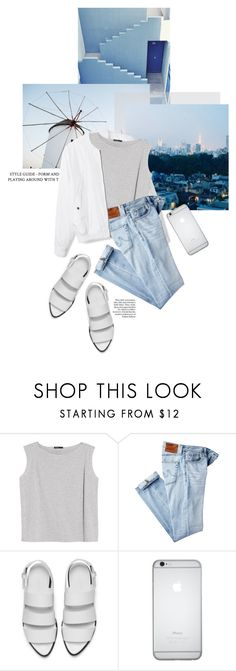 """""""£;9h+"""" by rheeee ❤ liked on Polyvore featuring MANGO, AG Adriano Goldschmied and Alexander Wang"""