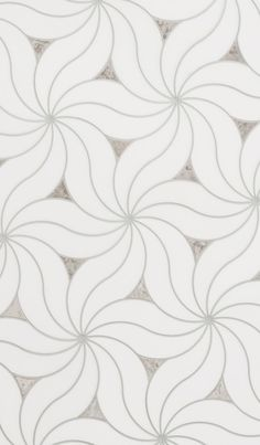 Delicate flower swirl stone mosaic tile from the Metropole collection by Mosaique Surface. Stone Mosaic Tile, Mosaic Tiles, Marble Tiles, Wall Tiles Design, Tile Wallpaper, Moorish, Background Patterns, Natural Stones, Interior And Exterior