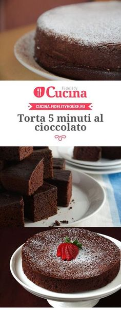 5 minutes Chocolate Cake Recipe - Fidelity Cucina-Ricetta Torta 5 minuti al cioccolato – Fidelity Cucina 5 minutes chocolate cake - Sweet Recipes, Cake Recipes, Dessert Recipes, Chocolate Recipes, Chocolate Cake, Torte Cake, Pie Dessert, Creme Brulee, Sweet Cakes
