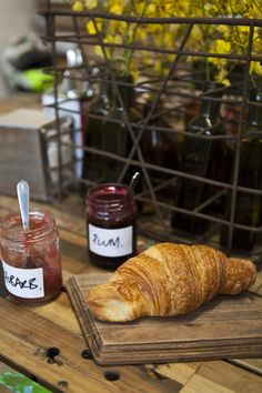 Croissant and jam by Jazmine Thom