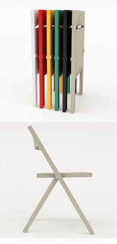 silla-plegable-polipropileno-1 Wooden Furniture, Home Furniture, Furniture Design, Modern Crafts, Ergonomic Chair, Space Saving Furniture, Folding Chair, Diy Woodworking, Chair Design