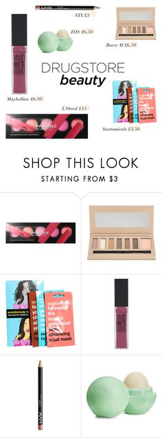 """Beauty on a Budget: Drugstore Beauty"" by mariannamic ❤ liked on Polyvore featuring beauty, L'Oréal Paris, Barry M, Anatomicals, Maybelline, NYX, Eos, Beauty, cosmetics and drugstorebeauty"