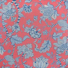 S3128 Red Red Fabric, Floral Fabric, Floral Prints, Greenhouse Fabrics, Country Of Origin, Floral Embroidery, Your Design, Red And Blue, Delicate