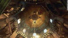 Charlemagne's Palatine Chapel, shown here, is part of the Aachen Cathedral in western Germany. The chapel was constructed between 793 and 813, and Charlemagne was buried here in 814.