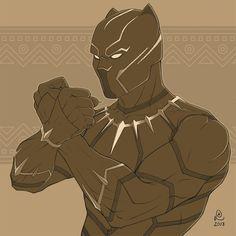 Black Panther by on DeviantArt Black Panther Drawing, Black Panther King, Black Panther Marvel, Jaguar, Black Panther Chadwick Boseman, Avengers, Marvel Fan Art, Marvel Comic Universe, Black Artwork