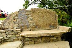 stream side stone bench 2 - Sunny Wieber, Stone Art